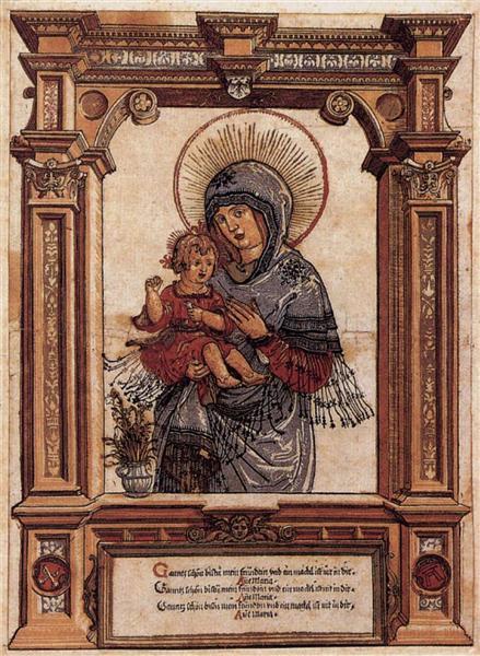 Прекрасная Дева Мария Регенсбургская, 1519 - 1520 - Альбрехт Альтдорфер