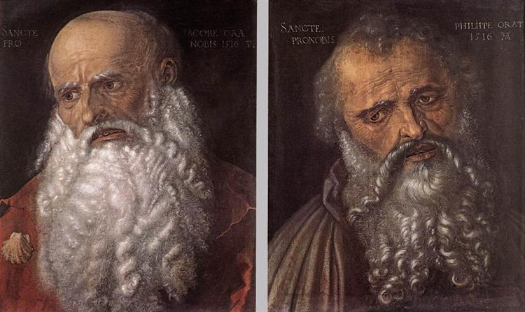 The Apostles Philip and James, 1516 - Albrecht Durer