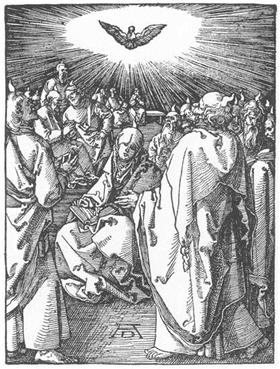 The Descent of the Holy Spirit - Albrecht Durer