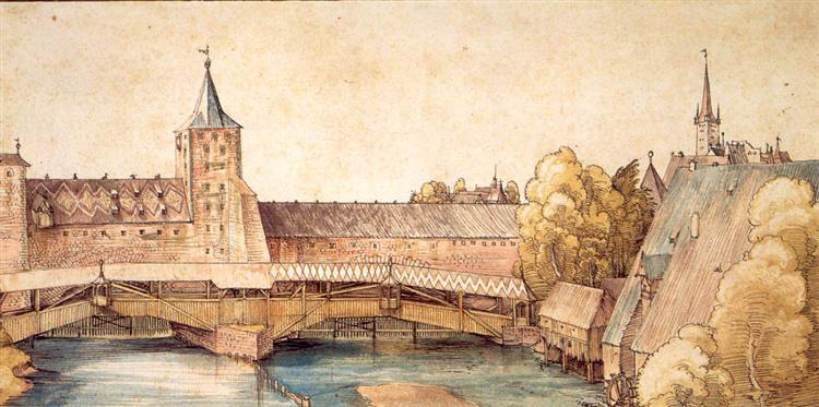 Dry dock at Hallertürlein, Nuremberg, 1496 - Albrecht Durer