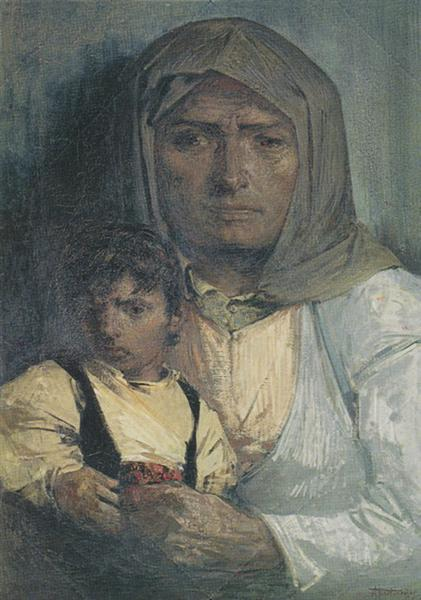 Mother and Child, 1943 - Alekos Kontopoulos