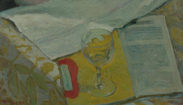 Still life with glass - Alekos Kontopoulos