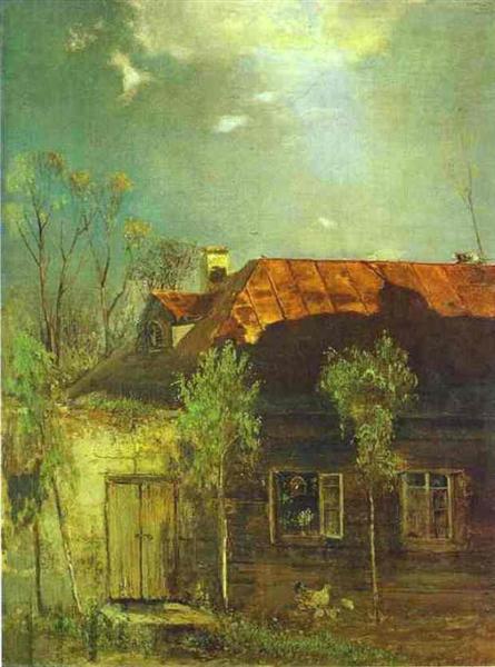 A Provincial Cottage. Spring, 1878 - Aleksey Savrasov