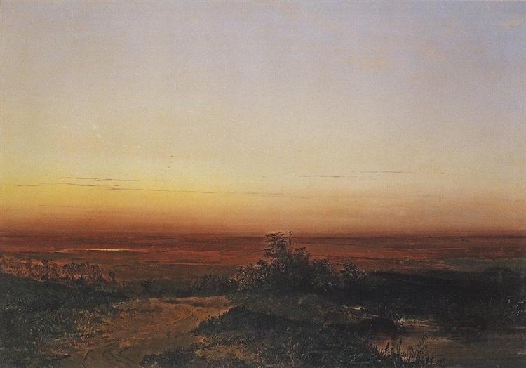 Dawn in the desert, 1852 - Aleksey Savrasov