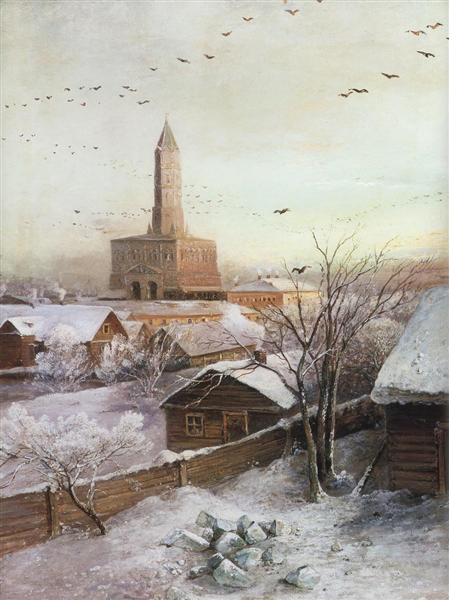 Early Spring. Flood, 1868 - Alexei Kondratjewitsch Sawrassow