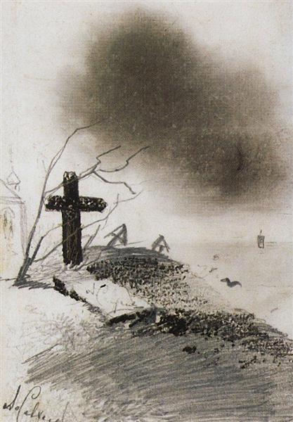 Grave, c.1870 - Aleksey Savrasov