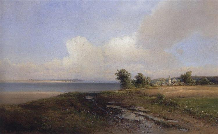 Landscape. Bank of the Volga, 1874 - Alexei Kondratjewitsch Sawrassow