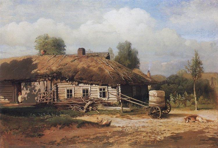 Landscape with hut, 1866 - Aleksey Savrasov