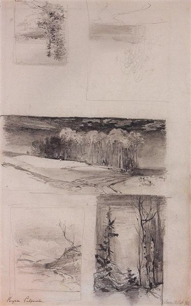 Motives of the Russian landscape, c.1870 - Aleksey Savrasov