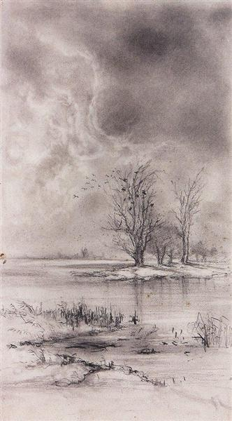 Spring landscape, 1890 - Aleksey Savrasov