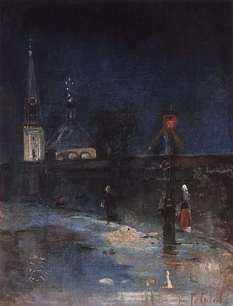To matins, 1880 - 1890 - Alexei Kondratjewitsch Sawrassow