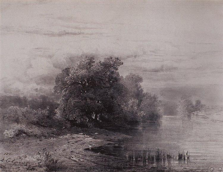 Trees by the River, 1861 - Aleksey Savrasov