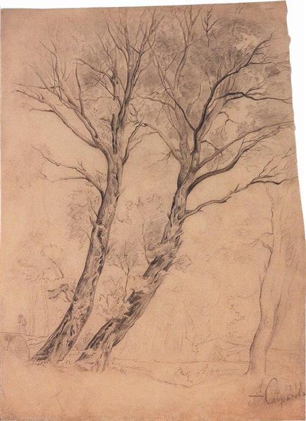 Trees, c.1850 - Aleksey Savrasov