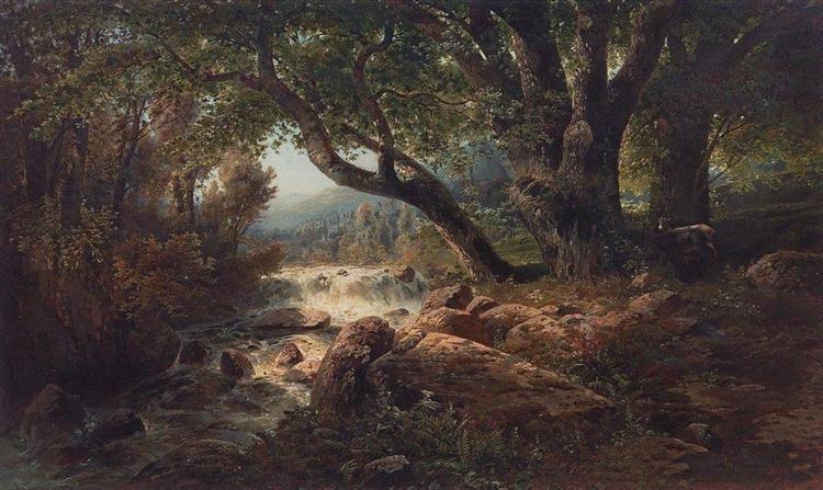 Waterfall, 1868 - Aleksey Savrasov
