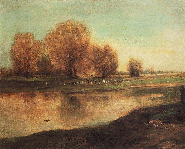 Willow by the pond, 1872 - Aleksey Savrasov