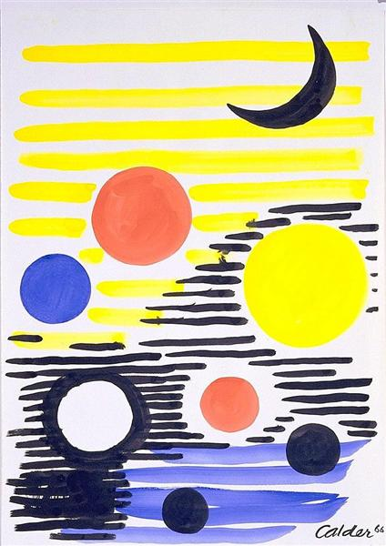 7 Circles Abstract, 1966 - Alexander Calder