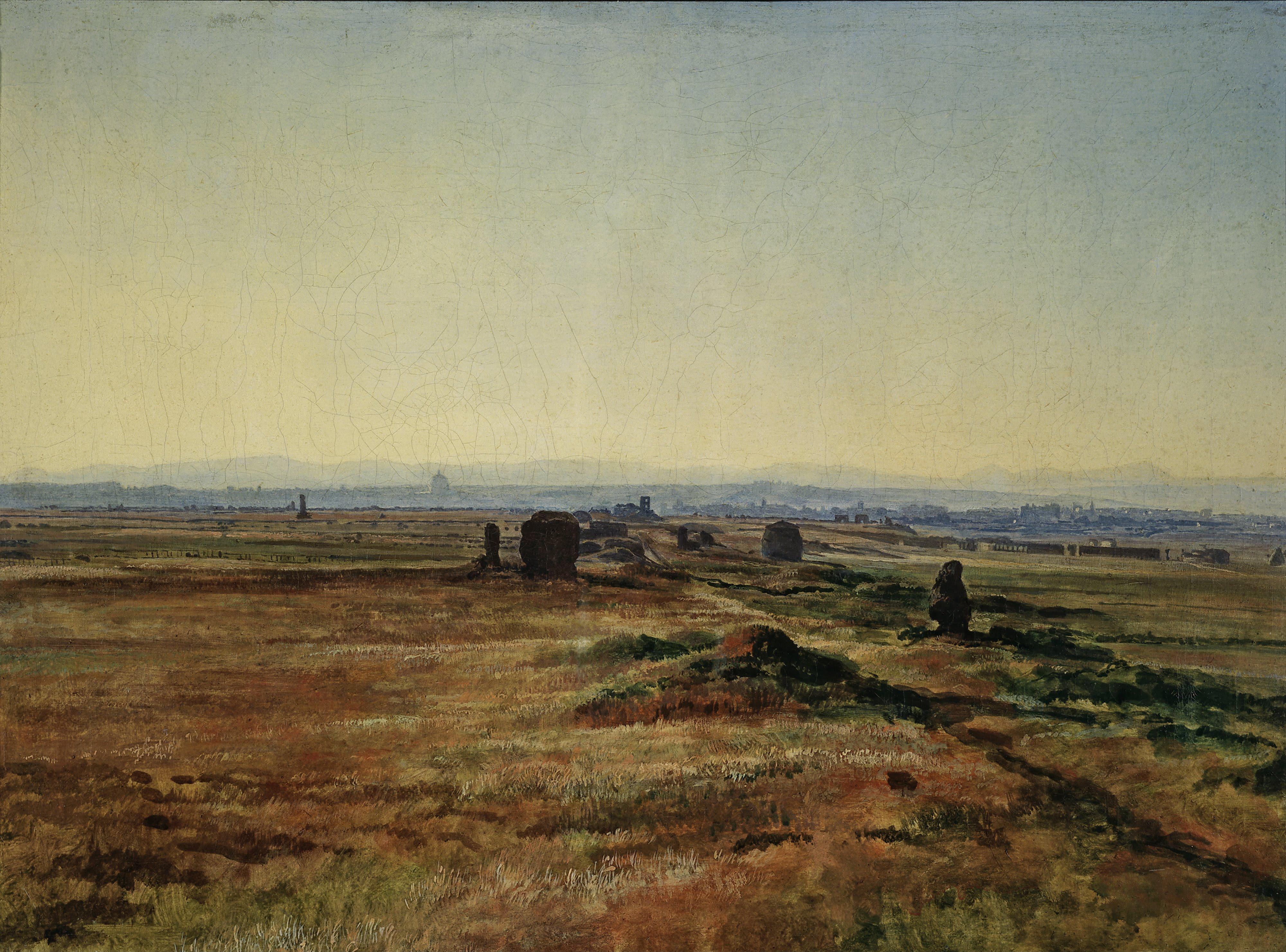 Via Appia at Sunset, 1845