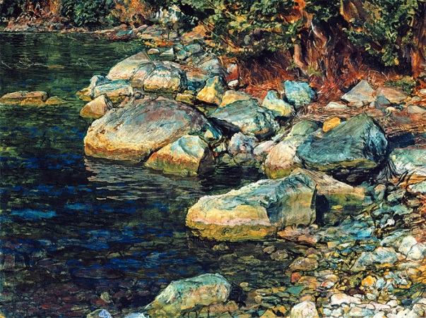 Water and stones under Palaccuolo
