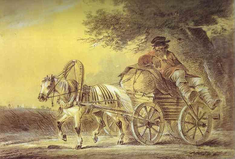 Peasant in a Cart, 1812