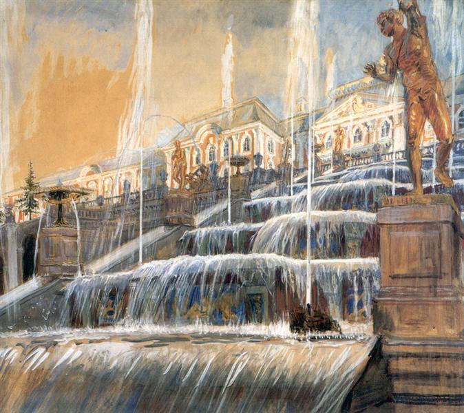 Peterhof Palace. Grand Cascade, 1901 - Alexandre Benois
