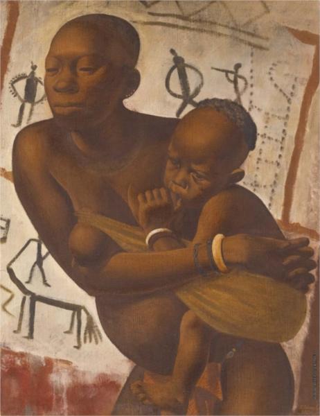 Mujer con una Banda Infantil - Jacovleff Alexandre