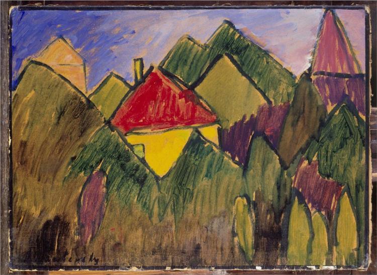 Rote Giebel - Rote Dächer, 1910 - Alexej von Jawlensky
