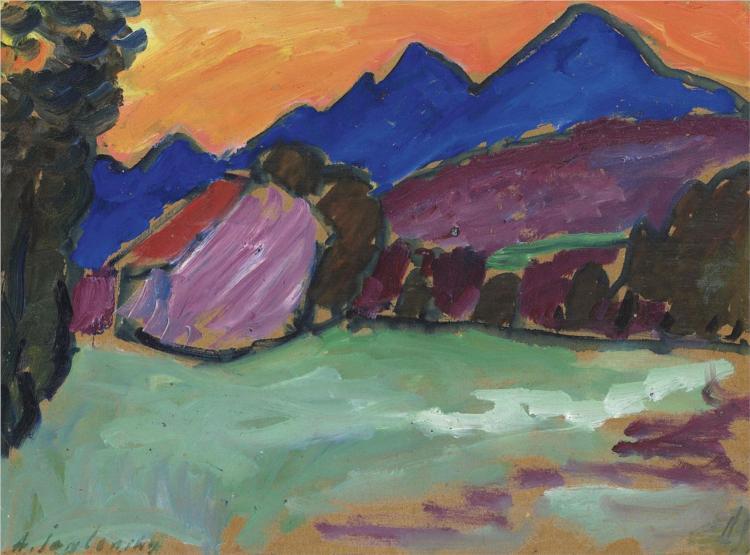 Roter Abend - Blaue Berge, 1910 - Alexej von Jawlensky
