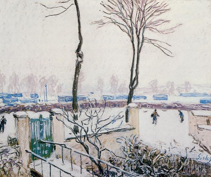Approach to the Railway Station, 1888 - Alfred Sisley