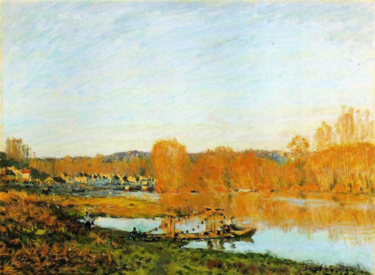 Autumn Banks of the Seine near Bougival, 1873 - Alfred Sisley