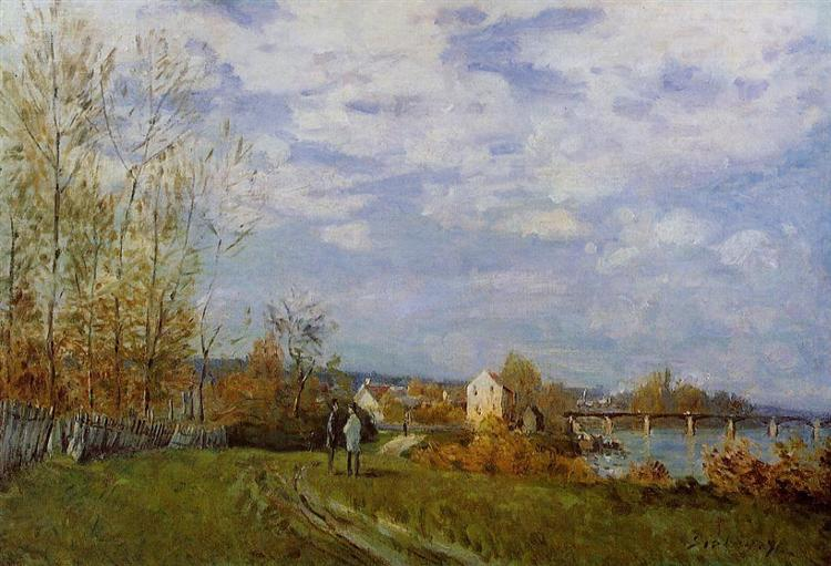 Banks of the Seine at Bougival, 1876 - Alfred Sisley