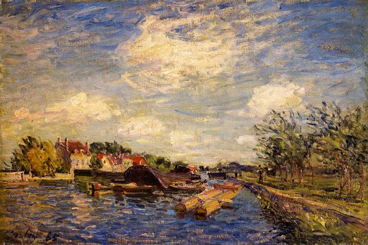 By the Loing, 1885 - Alfred Sisley