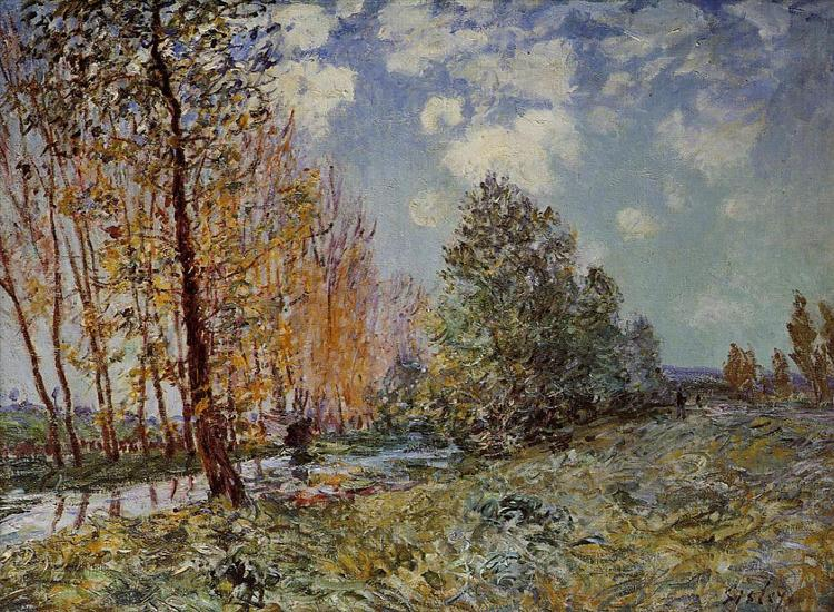 By the River, 1881 - Alfred Sisley