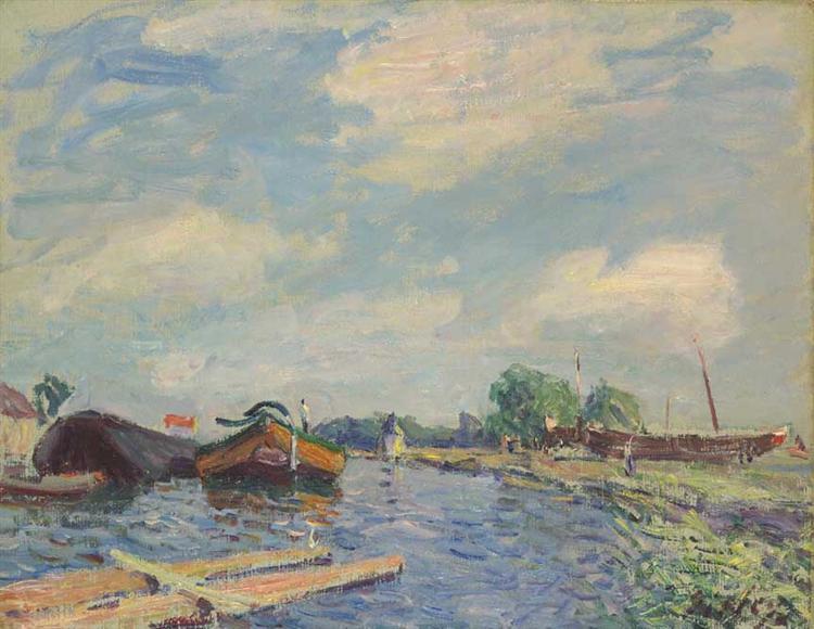 Canal at Saint Mammes, 1886 - Alfred Sisley