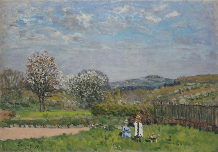 Children Playing in the Fields, 1879 - Alfred Sisley