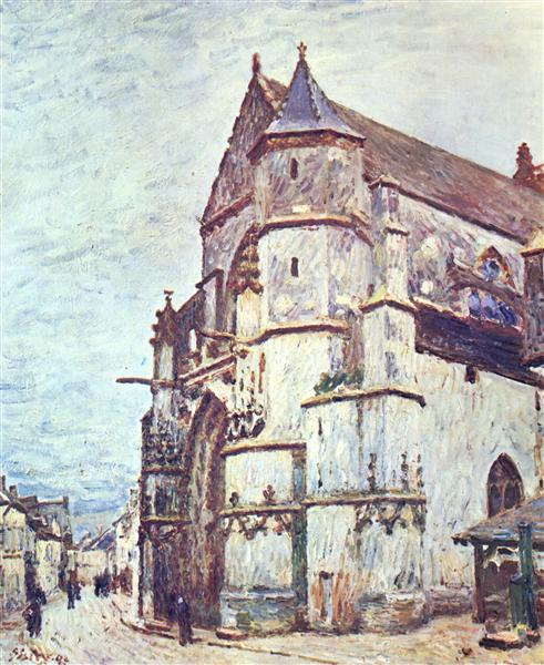Church at Moret after the Rain, 1894 - Alfred Sisley