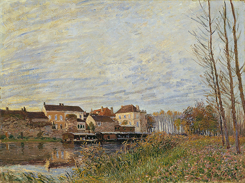 Evening in Moret, End of October, 1888 - Alfred Sisley