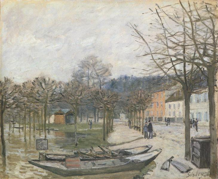 Flood at Port Marly, 1876 - Alfred Sisley