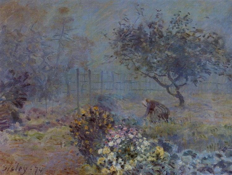 Foggy Morning, Voisins, 1874 - Alfred Sisley