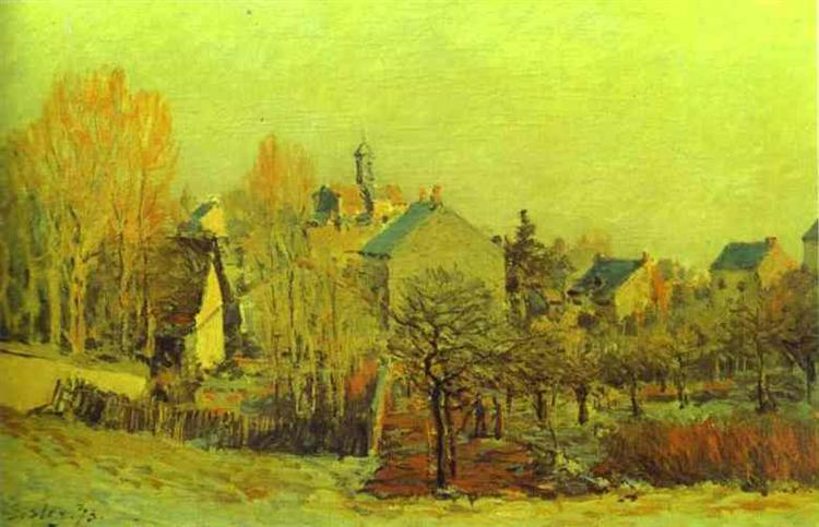 Frost in Louveciennes, 1873 - Alfred Sisley