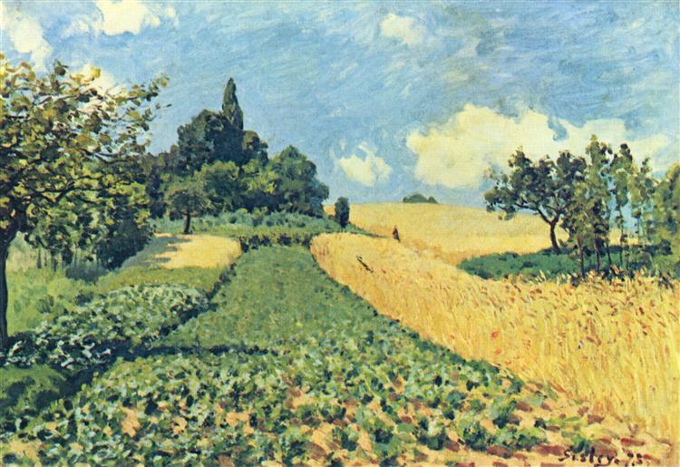 Grainfieldson thehills ofArgenteuil, 1873 - Alfred Sisley