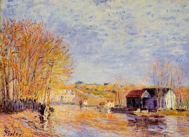 High Waters at Moret sur Loing, 1879 - Alfred Sisley