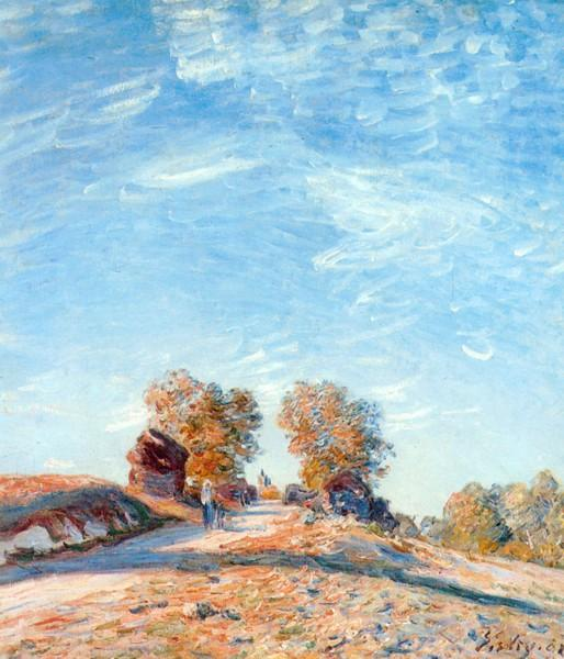 Hill Path in Sunlight, 1891 - Alfred Sisley