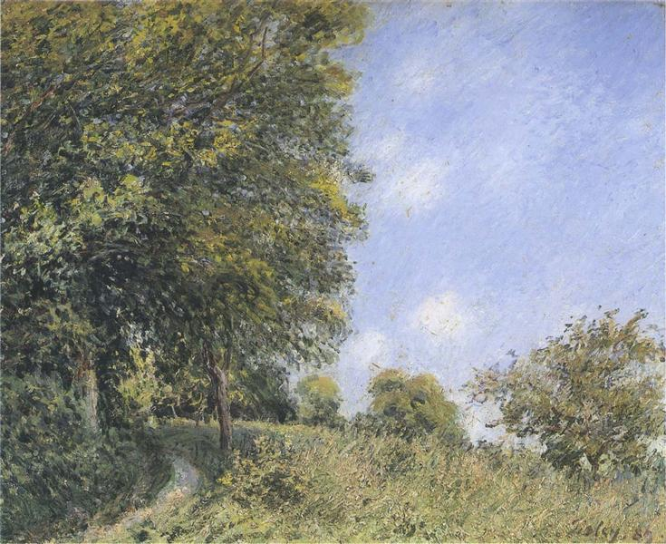 July Afternoon near the Forest, 1887 - Альфред Сіслей