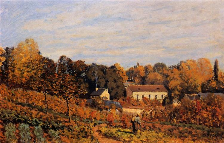 Kitchen Garden at Louveciennes, 1873 - Alfred Sisley