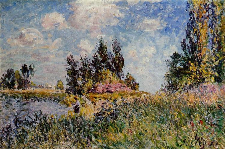 Landscape The Banks of the Loing at Saint Mammes, 1881 - Alfred Sisley