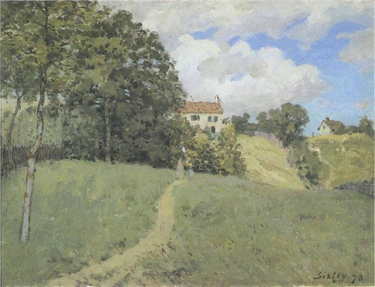 Landscape with Houses, 1873 - Alfred Sisley