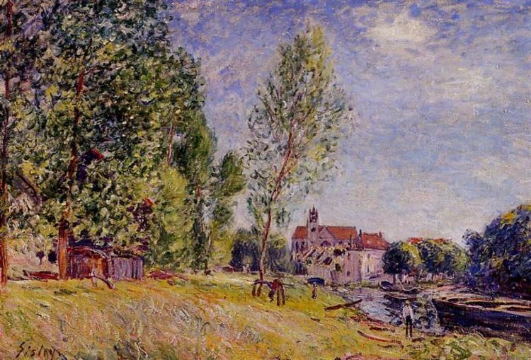 Matratat s Boatyard, Moret sur Loing, c.1883 - Alfred Sisley
