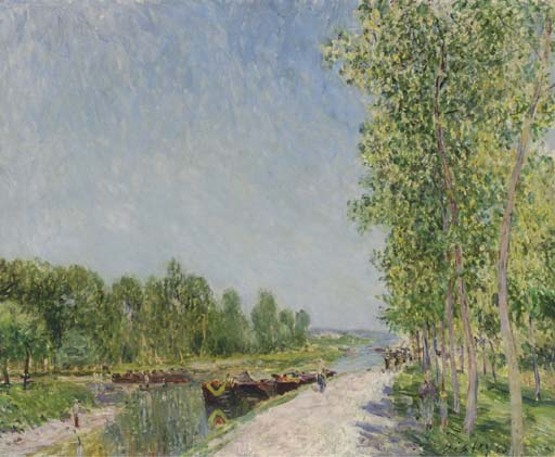On the Banks of the Loing Canal, 1883 - Alfred Sisley