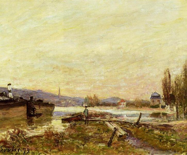 Saint Cloud, Banks of the Seine, 1879 - Alfred Sisley