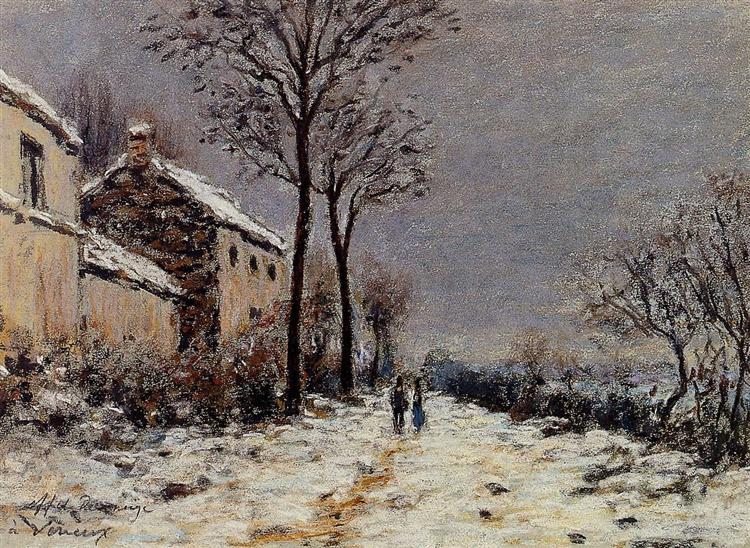 Snow Effect at Veneux, 1884 - Alfred Sisley